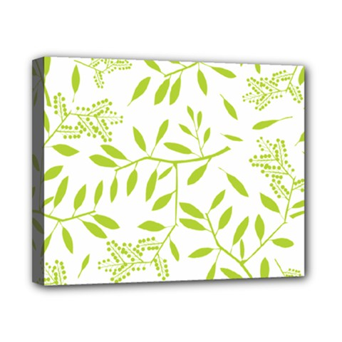 Leaves Pattern Seamless Canvas 10  x 8