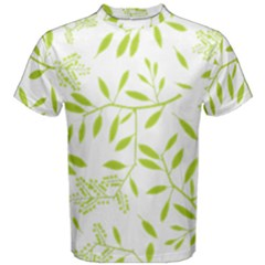 Leaves Pattern Seamless Men s Cotton Tee