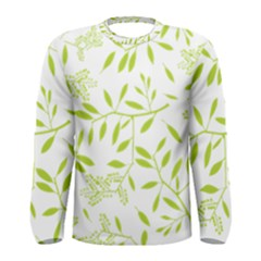 Leaves Pattern Seamless Men s Long Sleeve Tee