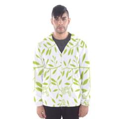 Leaves Pattern Seamless Hooded Wind Breaker (men)