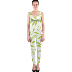 Leaves Pattern Seamless OnePiece Catsuit