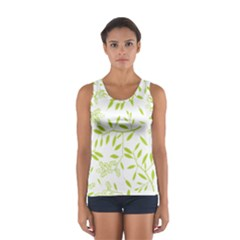Leaves Pattern Seamless Women s Sport Tank Top