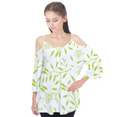 Leaves Pattern Seamless Flutter Tees