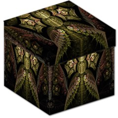 Fractal Abstract Patterns Gold Storage Stool 12