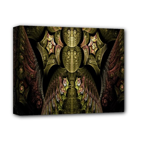 Fractal Abstract Patterns Gold Deluxe Canvas 14  X 11