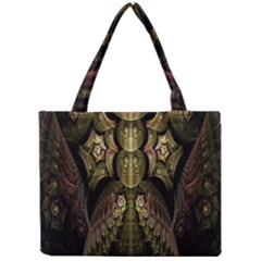 Fractal Abstract Patterns Gold Mini Tote Bag