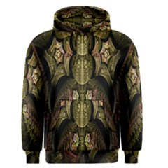 Fractal Abstract Patterns Gold Men s Pullover Hoodie