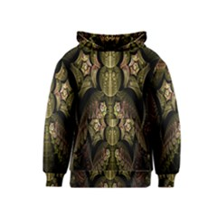 Fractal Abstract Patterns Gold Kids  Pullover Hoodie