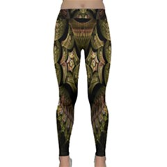 Fractal Abstract Patterns Gold Classic Yoga Leggings