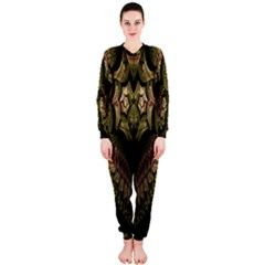 Fractal Abstract Patterns Gold OnePiece Jumpsuit (Ladies)