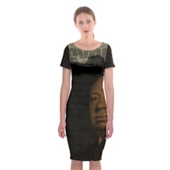 Alfred Hitchcock - Psycho  Classic Short Sleeve Midi Dress