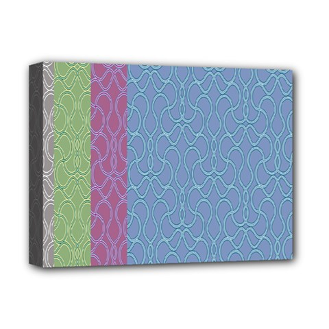 Fine Line Pattern Background Vector Deluxe Canvas 16  X 12
