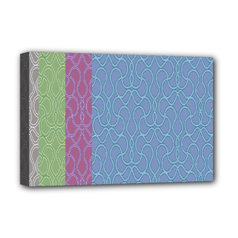 Fine Line Pattern Background Vector Deluxe Canvas 18  x 12