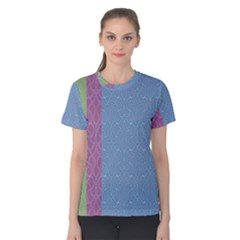 Fine Line Pattern Background Vector Women s Cotton Tee