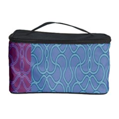 Fine Line Pattern Background Vector Cosmetic Storage Case