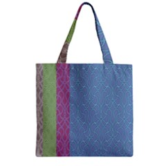Fine Line Pattern Background Vector Zipper Grocery Tote Bag