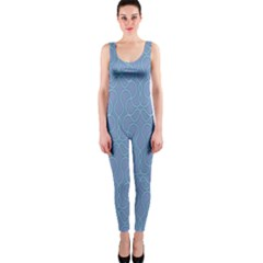Fine Line Pattern Background Vector OnePiece Catsuit