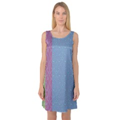Fine Line Pattern Background Vector Sleeveless Satin Nightdress