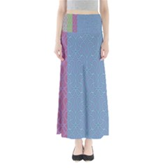 Fine Line Pattern Background Vector Maxi Skirts