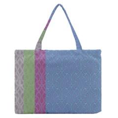 Fine Line Pattern Background Vector Medium Zipper Tote Bag