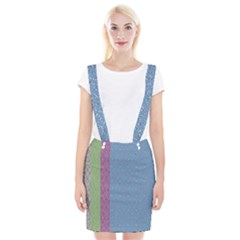 Fine Line Pattern Background Vector Suspender Skirt