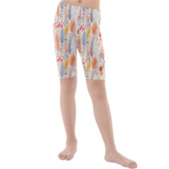 Repeating Pattern How To Kids  Mid Length Swim Shorts