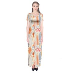 Repeating Pattern How To Short Sleeve Maxi Dress