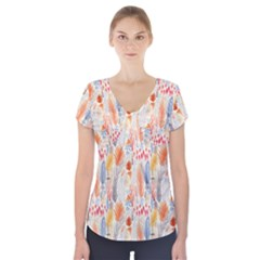 Repeating Pattern How To Short Sleeve Front Detail Top