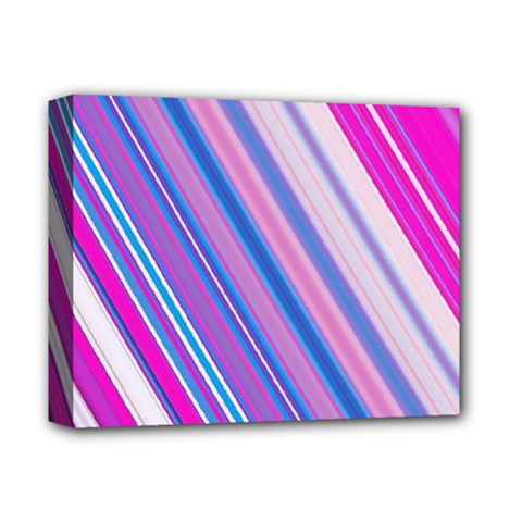 Line Obliquely Pink Deluxe Canvas 14  x 11