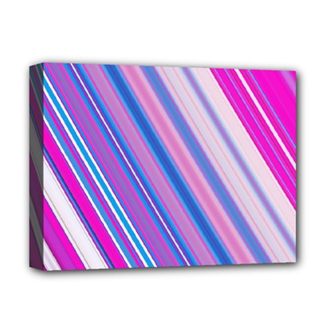 Line Obliquely Pink Deluxe Canvas 16  x 12