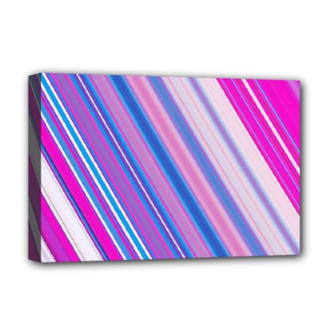 Line Obliquely Pink Deluxe Canvas 18  X 12
