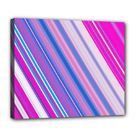 Line Obliquely Pink Deluxe Canvas 24  x 20