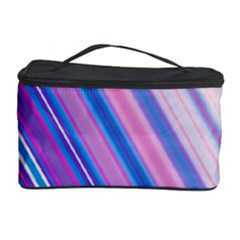 Line Obliquely Pink Cosmetic Storage Case