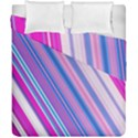 Line Obliquely Pink Duvet Cover Double Side (California King Size) View1