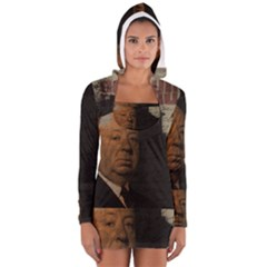 Alfred Hitchcock - Psycho  Women s Long Sleeve Hooded T-shirt