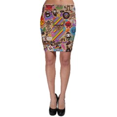 Background Images Colorful Bright Bodycon Skirt