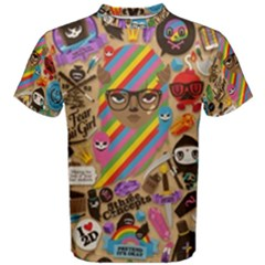Background Images Colorful Bright Men s Cotton Tee