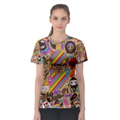 Background Images Colorful Bright Women s Sport Mesh Tee