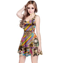 Background Images Colorful Bright Reversible Sleeveless Dress