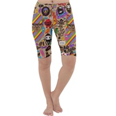 Background Images Colorful Bright Cropped Leggings