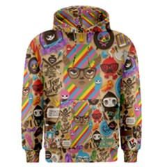 Background Images Colorful Bright Men s Pullover Hoodie