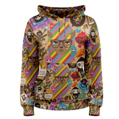 Background Images Colorful Bright Women s Pullover Hoodie