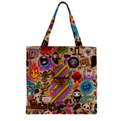 Background Images Colorful Bright Zipper Grocery Tote Bag