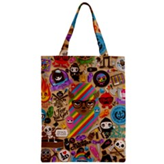 Background Images Colorful Bright Zipper Classic Tote Bag