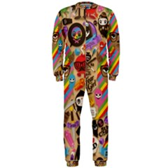 Background Images Colorful Bright OnePiece Jumpsuit (Men)