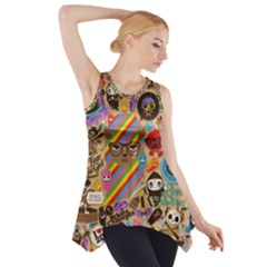 Background Images Colorful Bright Side Drop Tank Tunic