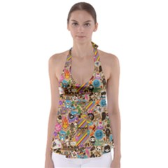 Background Images Colorful Bright Babydoll Tankini Top