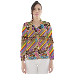 Background Images Colorful Bright Wind Breaker (Women)