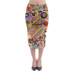 Background Images Colorful Bright Midi Pencil Skirt