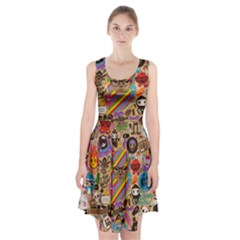 Background Images Colorful Bright Racerback Midi Dress